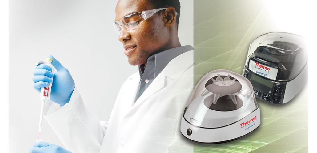 Thermo Scientific mySPIN 6 and 12 mini centrifuges                                                               a new separation experience